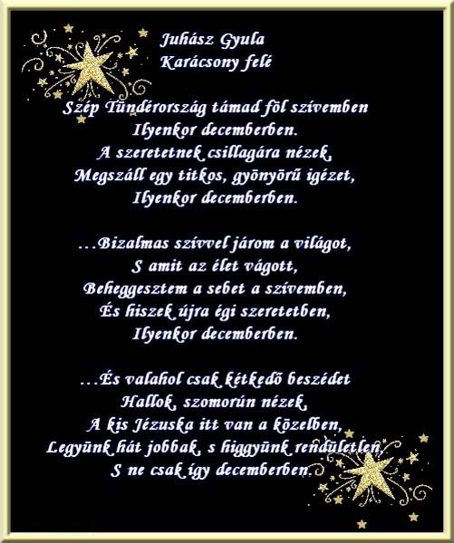 Juhász Gyula - Karácsony felé