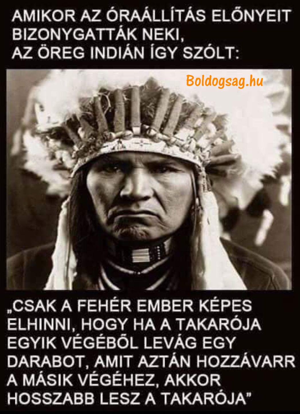 Óraátállítás az indiánok szerint